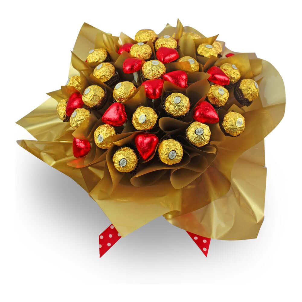 Букет из конфет своими руками из роз