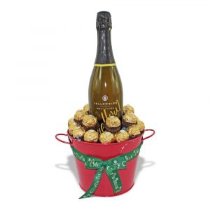 Yellowglen and Ferrero Rocher chocolate bucket