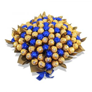 Ferrero Rocher with Stars Chocolate Bouquet Blue