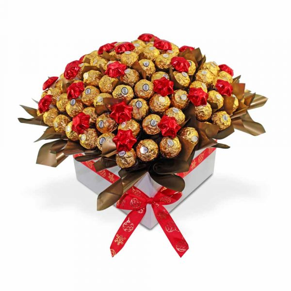 Ferrero Rocher with Stars Chocolate Bouquet red 2