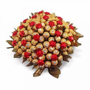 Ferrero Rocher with Stars Chocolate Bouquet Red