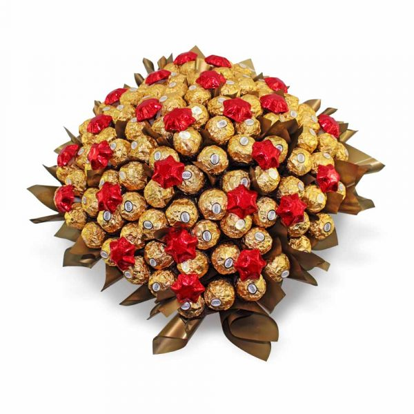 Ferrero Rocher with Stars Chocolate Bouquet  red
