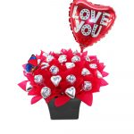 Valentine Baci Chocolate Bouquet
