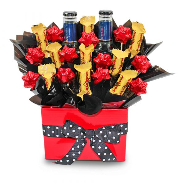 Toblerone and Smirnoff Black Delight Chocolate Bouquet