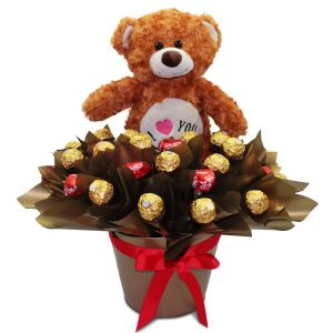 Sweet Love Ferrero Rocher and Teddy Tin