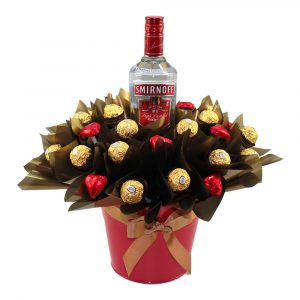 Smirnoff, Ferrero Rocher and Hearts Chocolate Tin