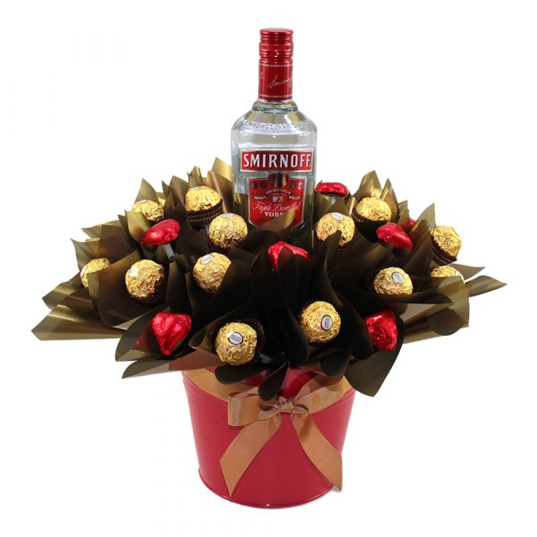 Smirnoff, Ferrero Rocher and Hearts Chocolate Tin