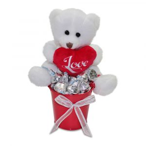 Mini bucket of Teddy Kisses