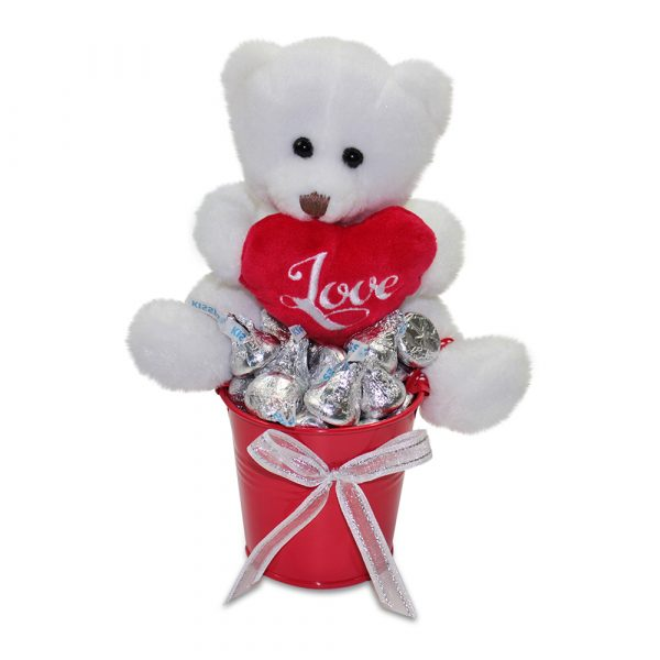 Mini bucket of Teddy Kisses