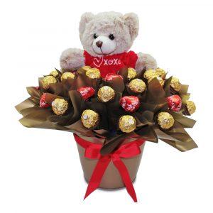 Sweet Love Ferrero Rocher and Teddy Kisses Tin